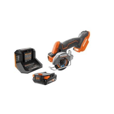 18V SubCompact Brushless Cordless 3 in. Multi-Material Saw Kit with (3) Cutting Wheels, 2.0 Ah Battery, and 18V Charger