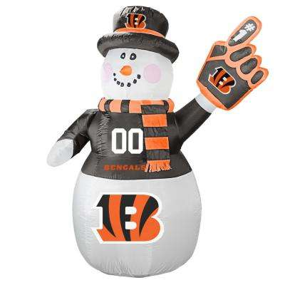 7 ft. Cincinnati Bengals Inflatable Snowman