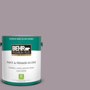 Behr Premium Plus 1 Gal N110 3 Fig Preserves Semi Gloss Enamel Low Odor Interior Paint And Primer In One 340001 The Home Depot