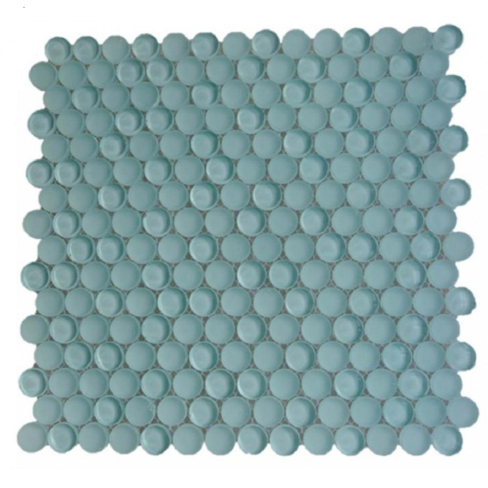 Ivy Hill Tile Contempo Light Green Circles 11-1/2 in. x 12 in. 8 mm Polished and Frosted Glass Mosaic Tile (0.96 sq. ft. )