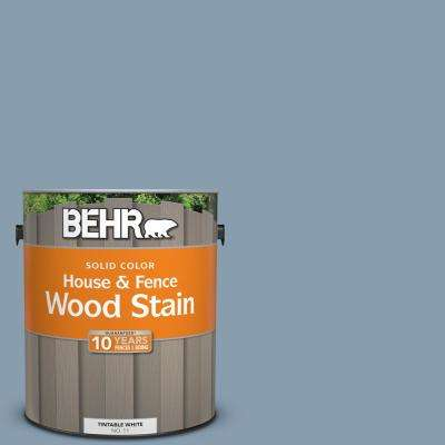 1 gal. #BNC-08 Sonata Blue Solid Color House and Fence Exterior Wood Stain