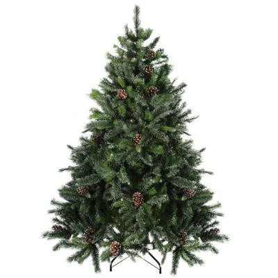 7 ft. Snowy Delta Pine with Pine Cones Unlit Artificial Christmas Tree