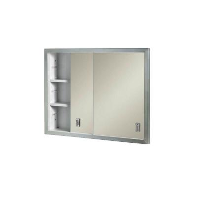 Contempora 24-5/8 in. W x 19-3/16 in. H x 4 in. D Framed Stainless Bi-View Recessed Bathroom Medicine Cabinet