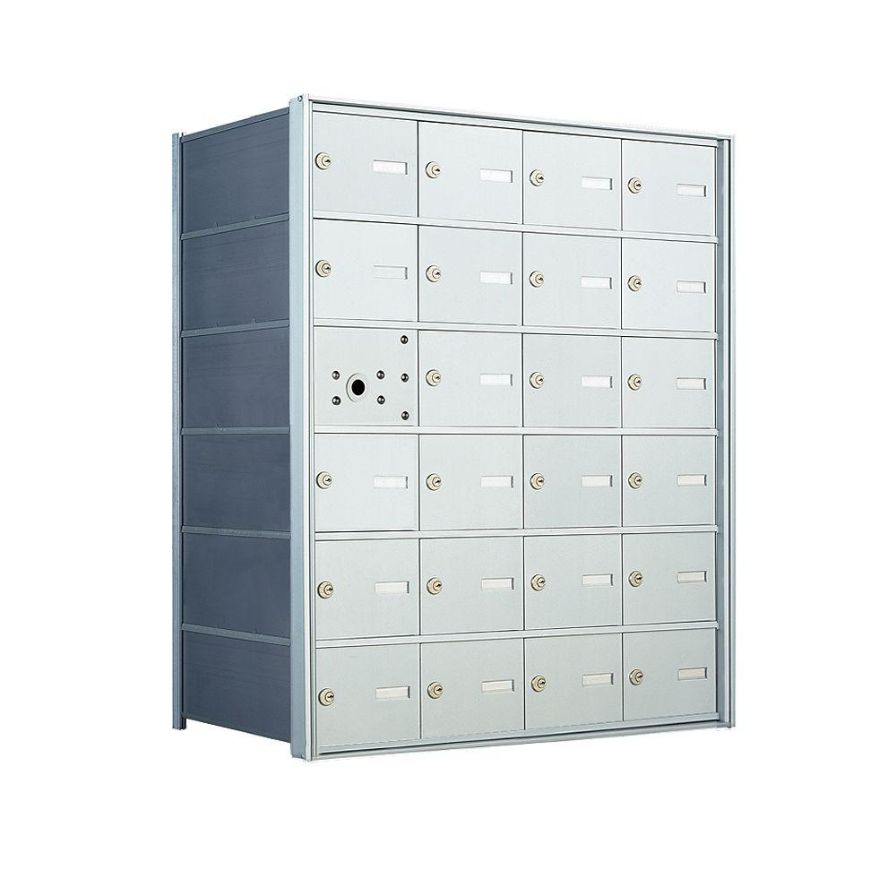 null 1400 Series 23-Compartment Recess Wall Mount Front Loading Horizontal Mailbox