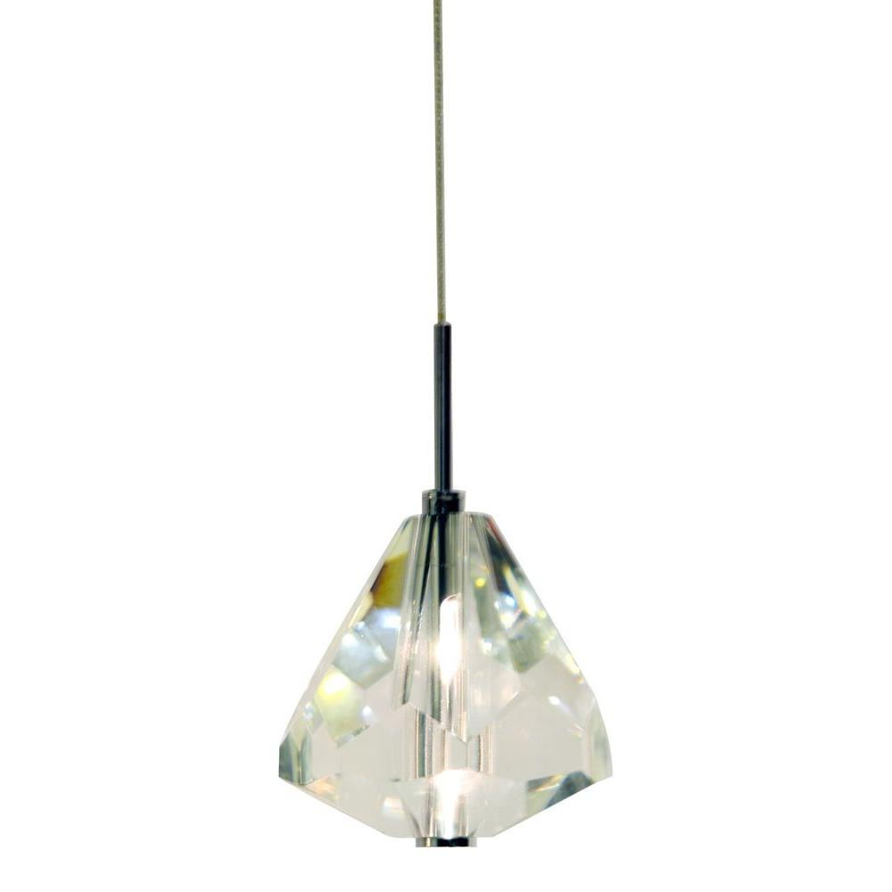 Decor Living 1-Light Chrome Diamond Mini-Pendant with K9 Crystal