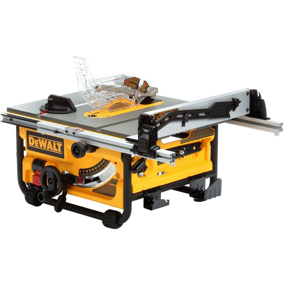 Dewalt 15 amp 10 in compact job site table saw with site pro dewalt 15 amp 10 in compact job site table saw with site pro modular greentooth