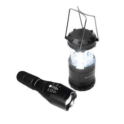 TacLight 40X High Performance Ultra-Bright LED Flashlight and Lantern Combo Pack