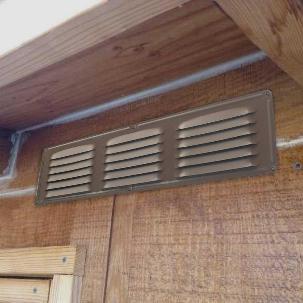 16 in  x 4 in  Aluminum Louvered Soffit Vent in Brown