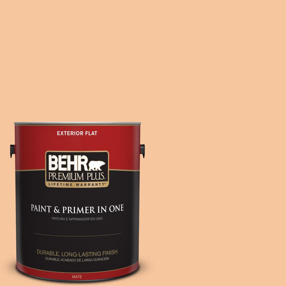 BEHR Premium Plus 1-gal. #M230-4 Cactus Blooms Flat Exterior Paint