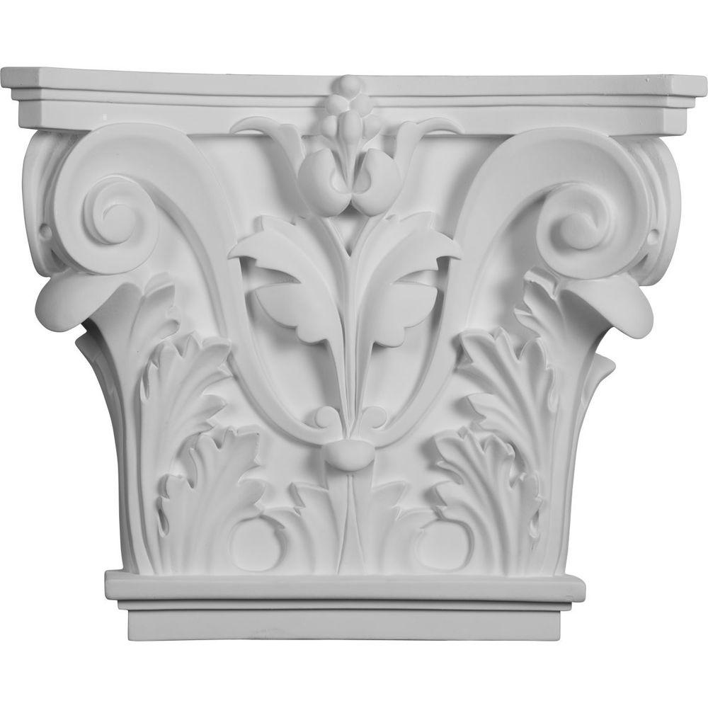 16-1/2 in. x 13-5/8 in. x 3-3/4 in. Polyurethane Acanthus Leaf