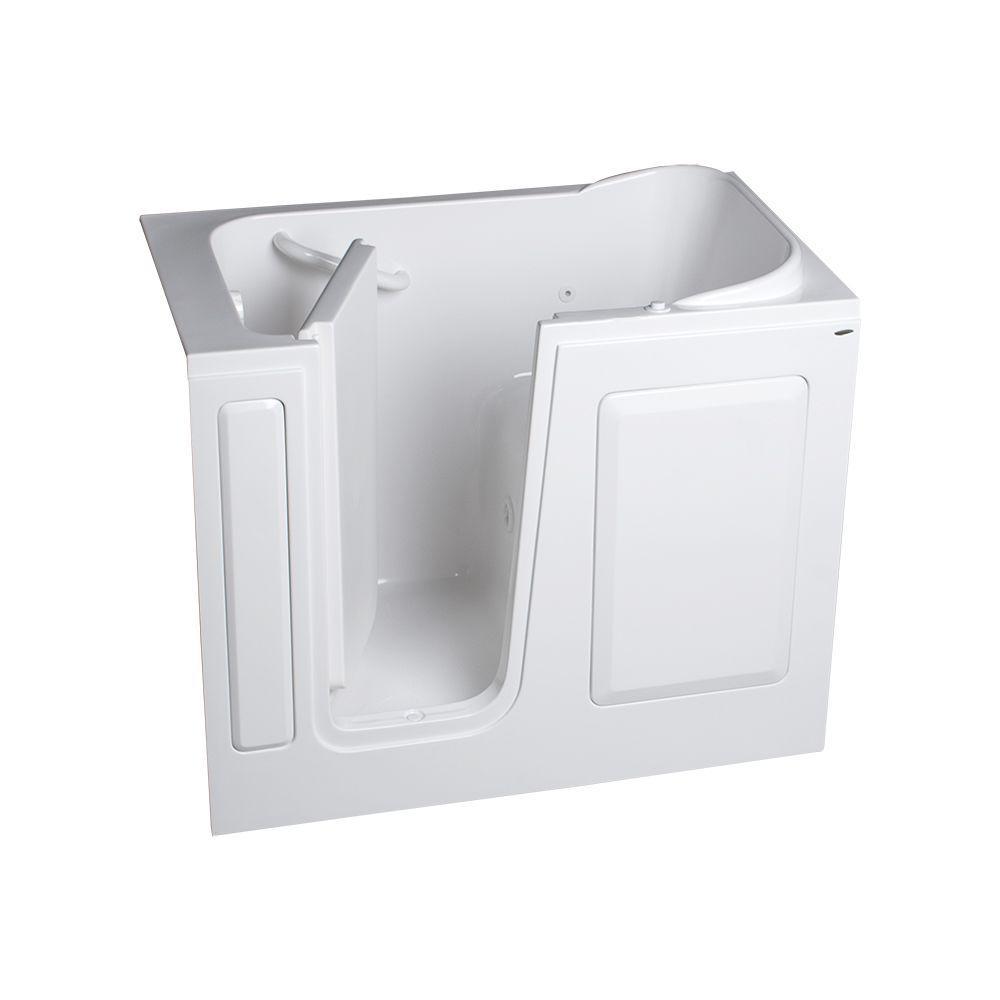 American Standard Gelcoat Standard Series 48 in. x 28 in. Rectangle Walk-In Whirlpool Tub in White