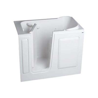 Gelcoat Standard Series 48 in. x 28 in. Rectangle Left Hand Walk-In Whirlpool Tub in White