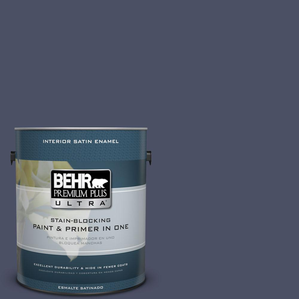 BEHR Premium Plus Ultra 1-gal. #610F-7 Mystical Shade Satin Enamel Interior Paint