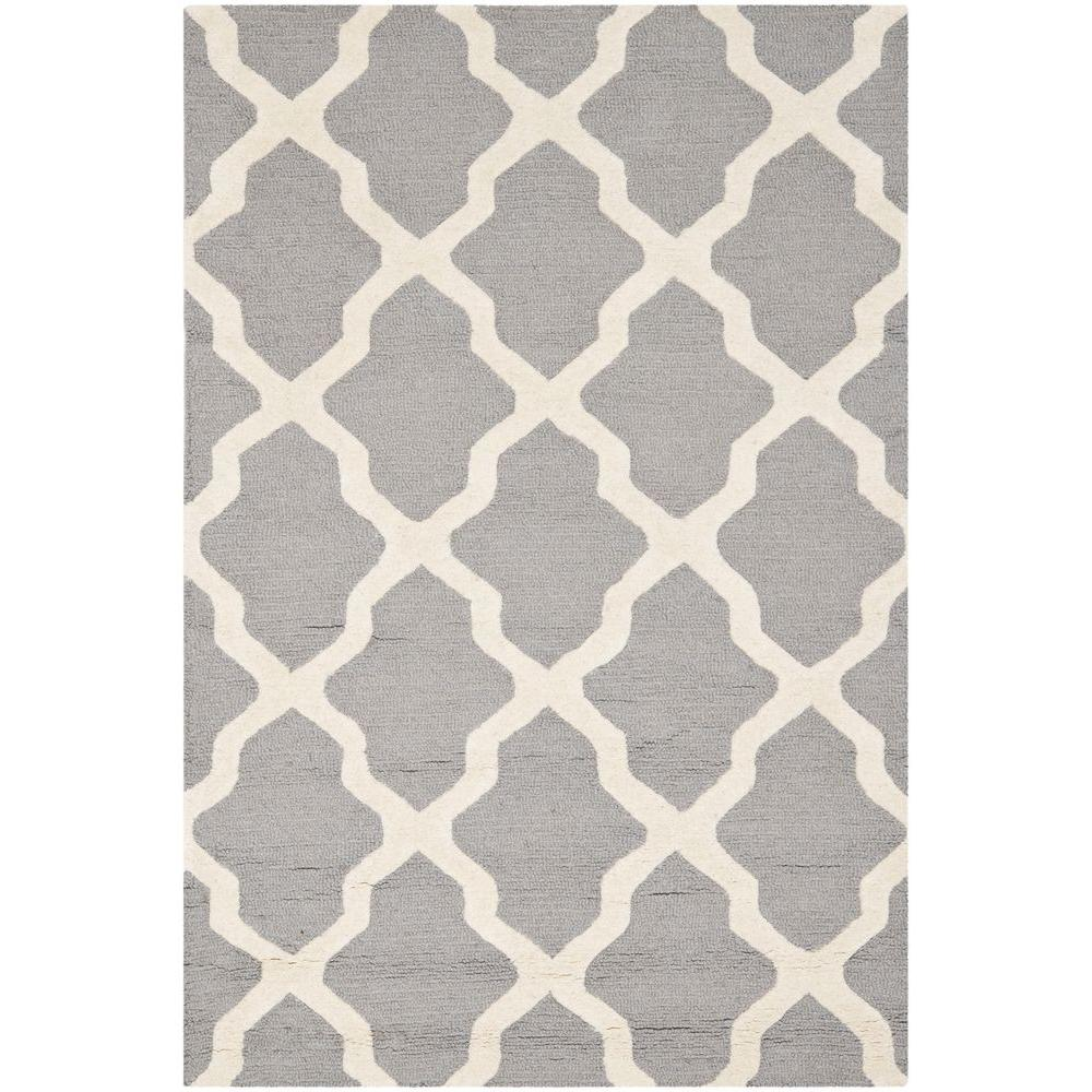 Safavieh Cambridge Silver/Ivory 4 ft. x 6 ft. Area Rug