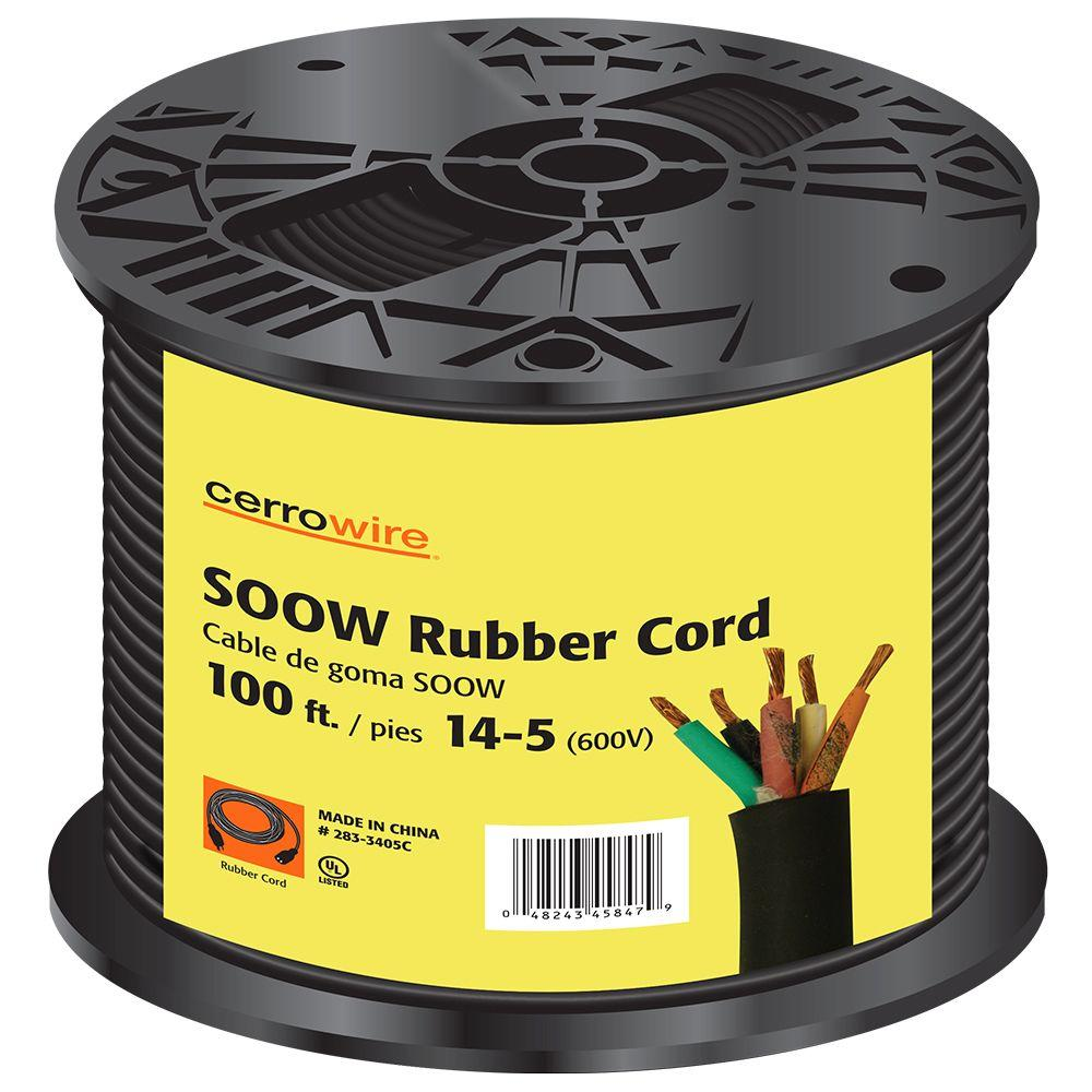Cerrowire 100 Ft 14 5 600 Volt Black Soow Cord 283 3405c The Home China Electric Wire Electrical Copper Wires