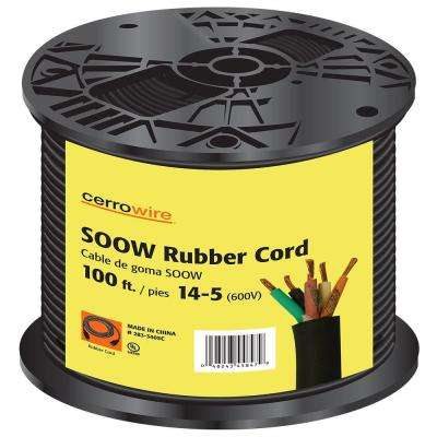 100 ft. 14/5 600-Volt Black SOOW Cord