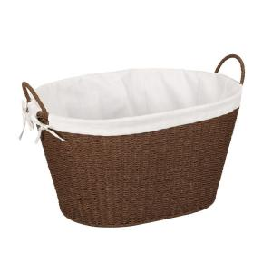 Household Essentials Paper Rope with Lining & Handles Stained Laundry Basket by Household Essentials