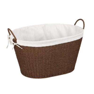 Paper Rope with Lining & Handles Stained Laundry Basket