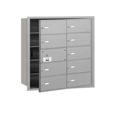 3600 Series Aluminum Private Front Loading 4B Plus Horizontal Mailbox with 10B Doors (9 Usable)