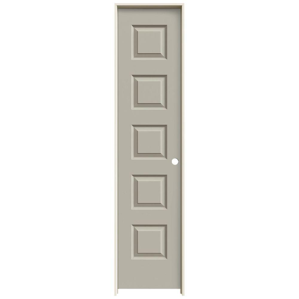 JELD-WEN 18 in. x 80 in. Rockport Desert Sand Painted Left-Hand Smooth Molded Composite MDF Single Prehung Interior Door