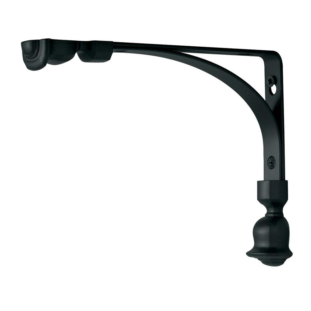 6 in. L x 8 in. H Black Steel Tulip Decorative