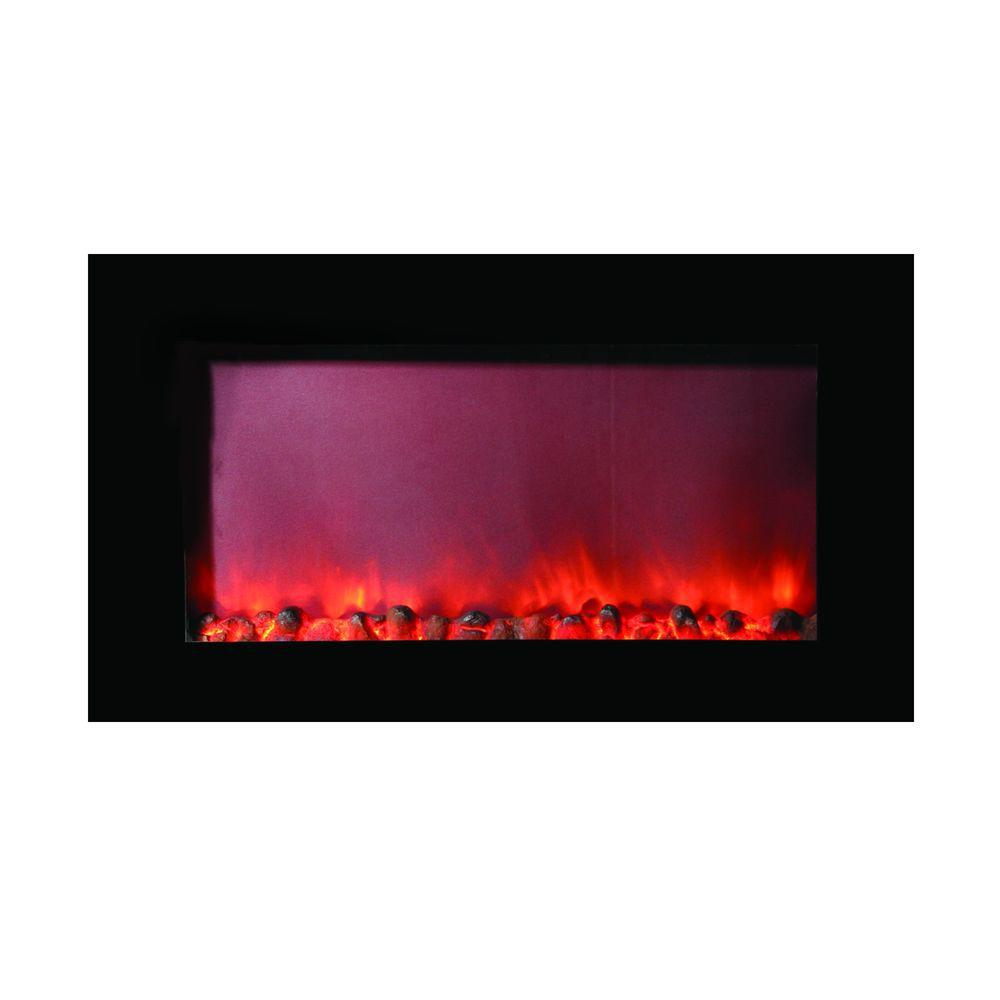 Y decor maximizer 40 in wall mount electric fireplace in for Electric moving wall pictures