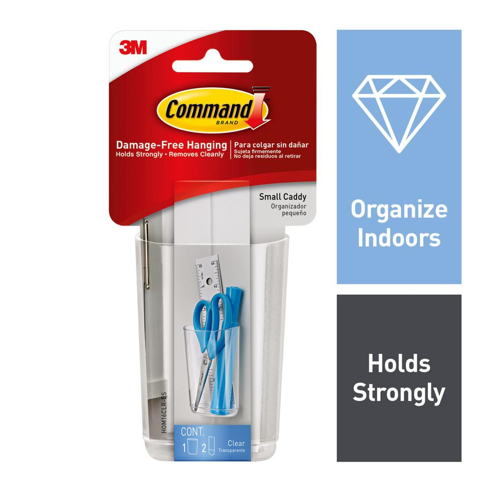Command Clear Small Caddy With Strips 1 2