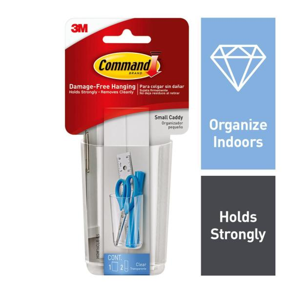 Clear Small Caddy with Clear Strips (1 Caddy) (2 Strips)