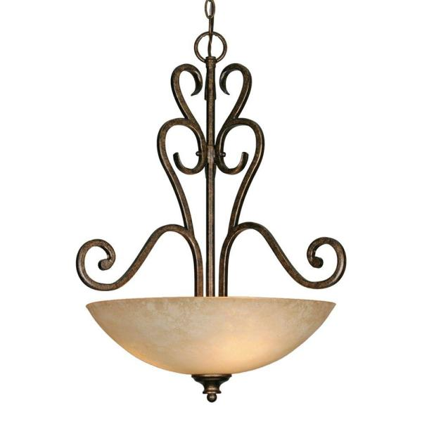 Dalian Collection 3-Light Burnt Sienna Pendant