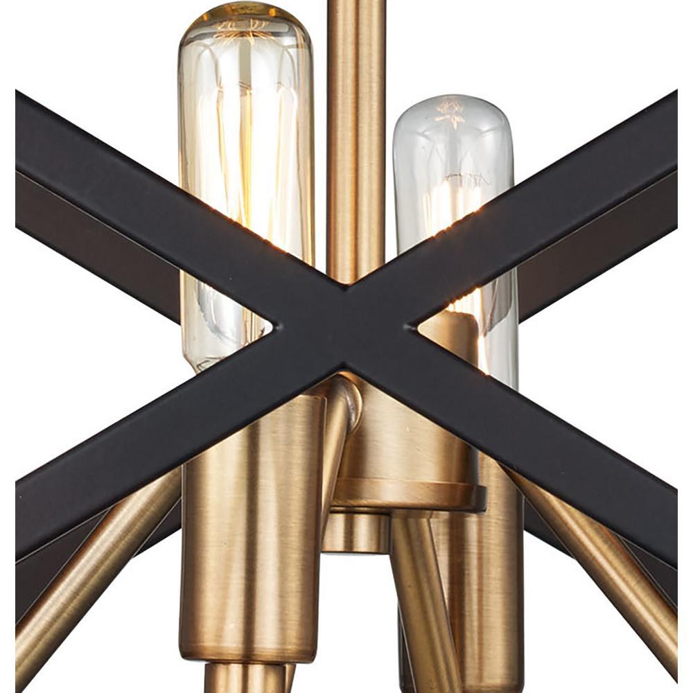 Bel Air Lighting Ackerman 4 Light Rubbed Oil Bronze Antique Br Semi Flush Mount