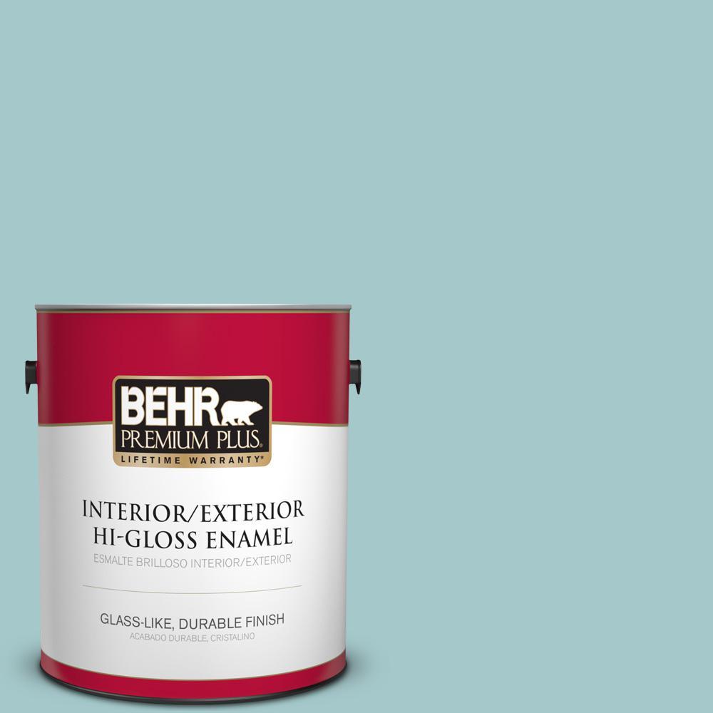 1 gal. #PPU13-10 Ocean Boulevard Hi-Gloss Enamel Interior/Exterior Paint