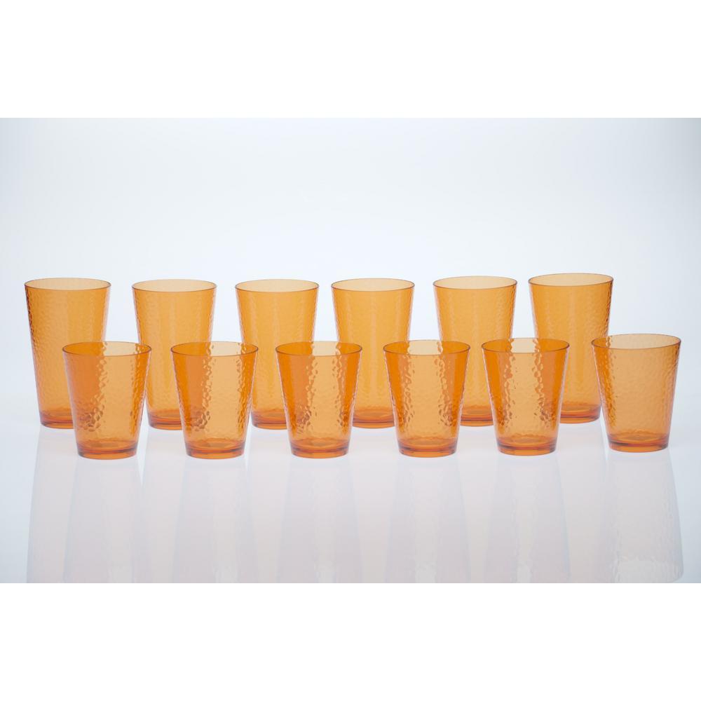 12-Piece Orange Drinkware Set