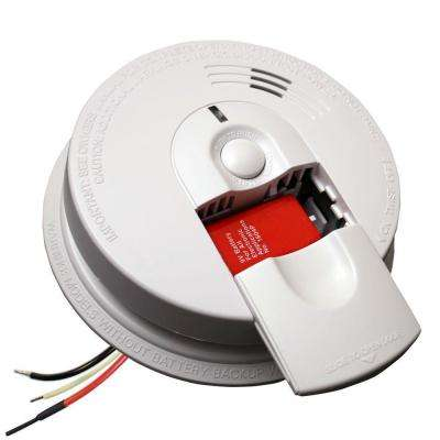 Hardwire Smoke Detector with 9V Battery Backup and Front Load Battery Door