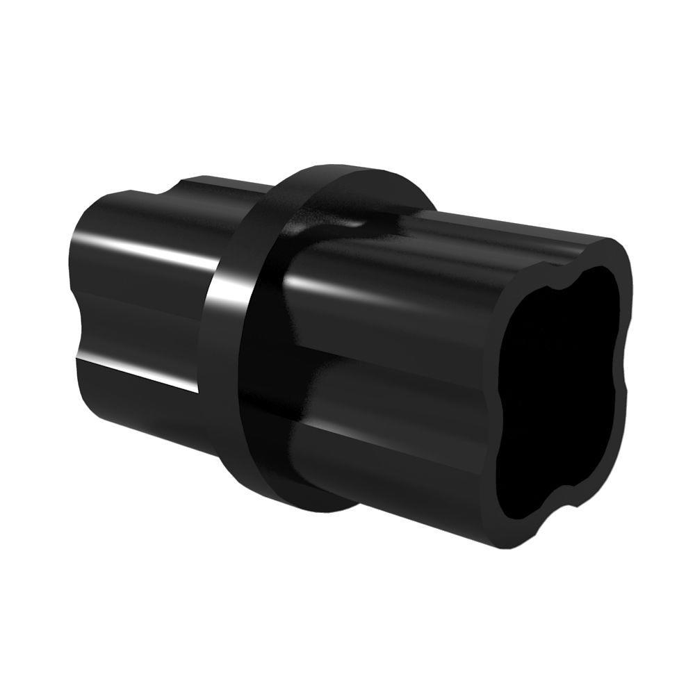 1-1/4 in. Furniture Grade PVC Sch. 40 Internal Coupling in Black