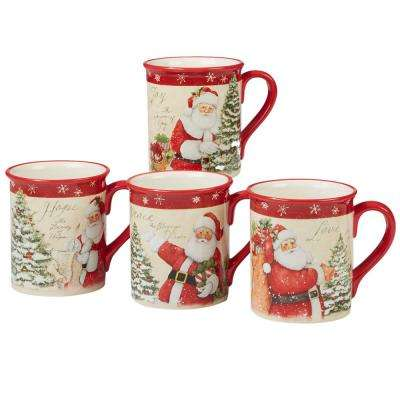 Holiday Wishes by Susan Winget 18 oz. Mug (Set of 4)