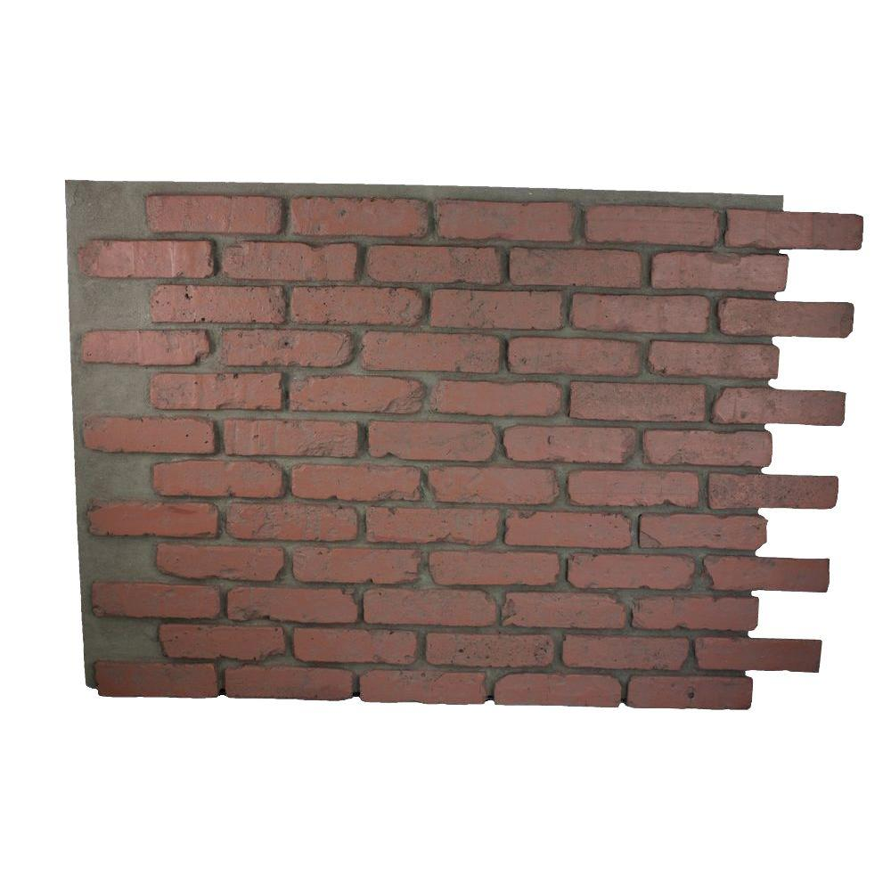 Superior Building Supplies Faux Reclaimed Brick 32 in. x 47 in. x 3/4 in. Panel Redstone