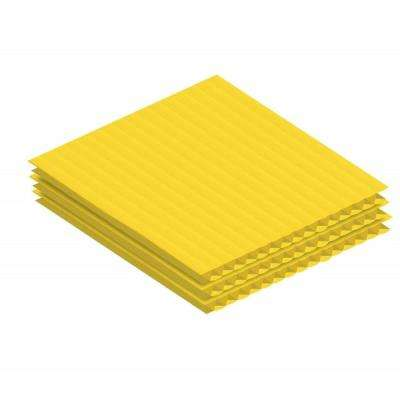 24 in. x 36 in. x 0.15 in. Yellow Twin Wall Plastic Sheet (24-Pack)