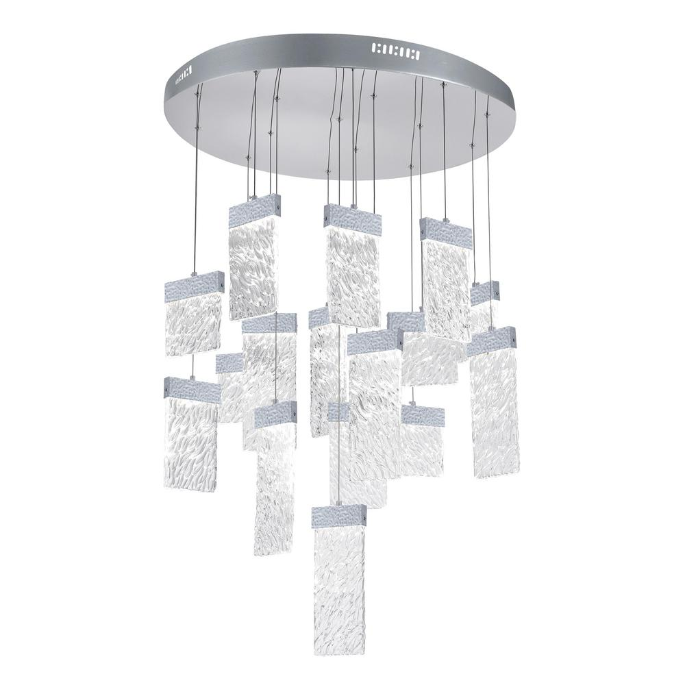 Cwi Lighting Carolina 140 Watt Integrated Led Pewter Contemporary Chandelier