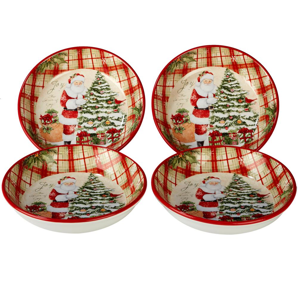 Holiday Wishes by Susan Winget 9.25 in. Soup/Pasta Bowl (Set of