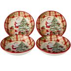 Holiday Wishes by Susan Winget 9.25 in. Soup/Pasta Bowl (Set of 4)