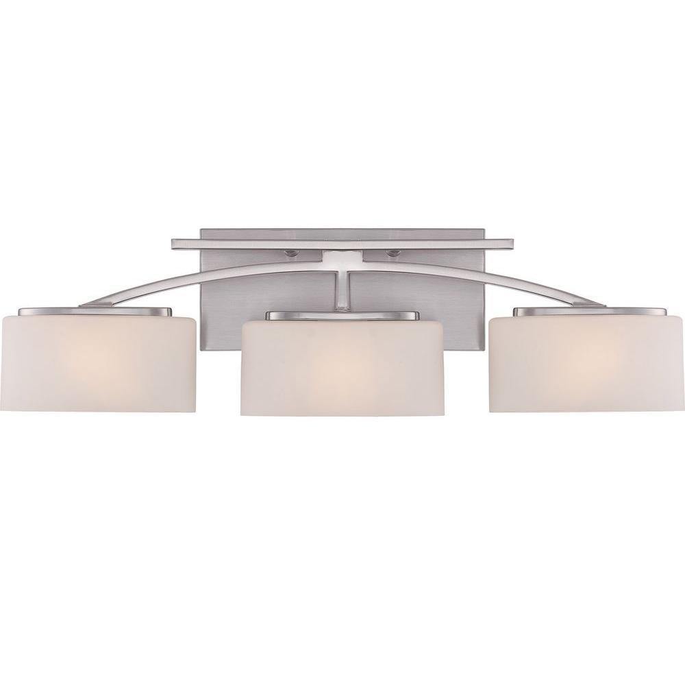 Illumina Direct Dalea 3-Light Brushed Nickel Bath Vanity Light