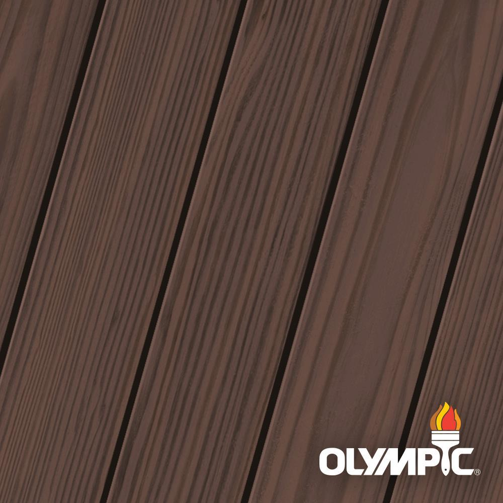 Olympic Elite 1 Gal. Royal Mahogany Semi-Solid Exterior Wood Stain and Sealant in One