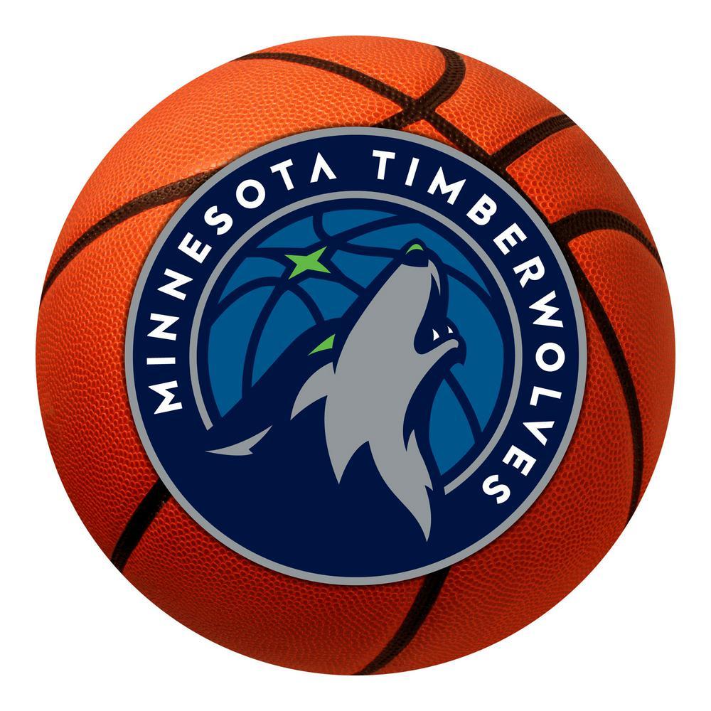 Fanmats Nba Minnesota Timberwolves Photorealistic 27 In Round