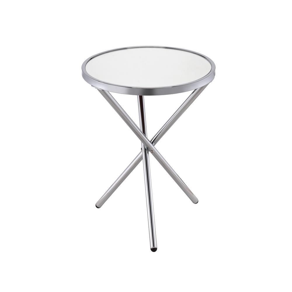 Lajita Mirror and Chrome Side Table