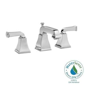 American Standard Town Square Curved Lever 8 inch Widespread 2-Handle Low-Arc Bathroom Faucet in Polished Chrome by American Standard