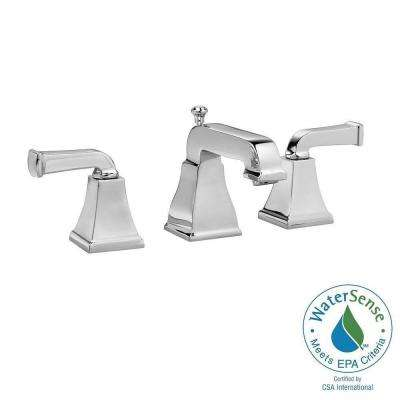 Town Square Curved Lever 8 in. Widespread 2-Handle Low-Arc Bathroom Faucet in Polished Chrome