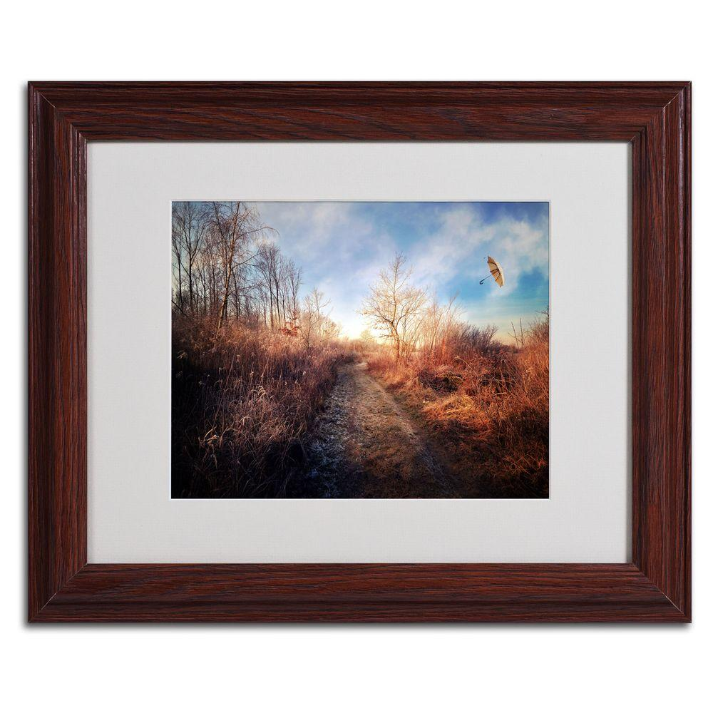 11 in. x 14 in. Blast of Wind Matted Framed Art
