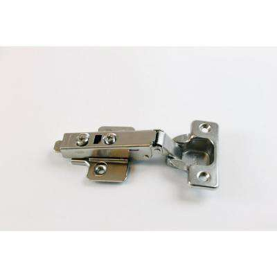 2.43 in. x 1.06 in. Nickel 105 Degree Full Overlay Hinge (10-Pack)