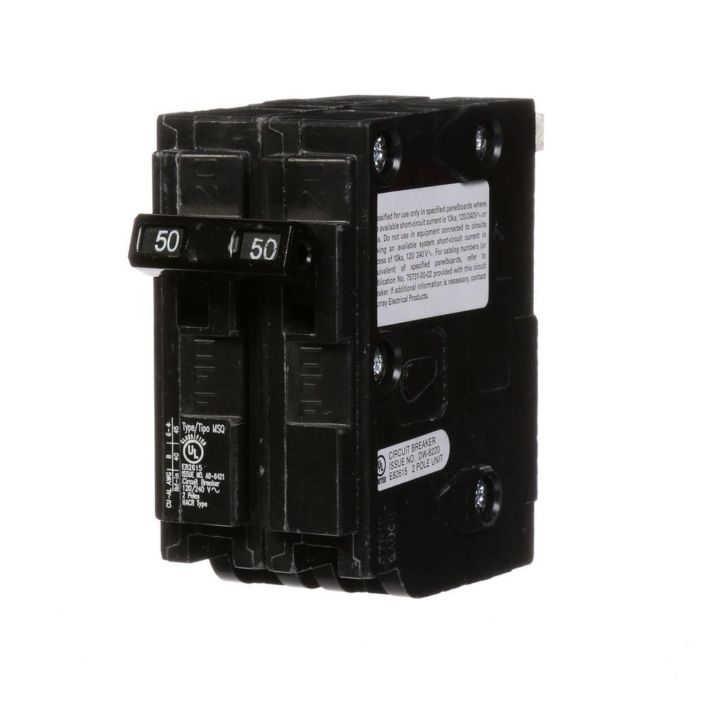 50 Amp Double-Pole Type MSQ QO Replacement Circuit Breaker