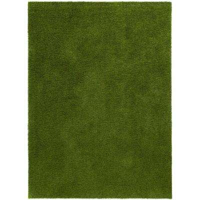 Arcadia 6 ft. 7 in. x 9 ft. 3 in. Artificial Grass Indoor/Outdoor Turf Green Rug